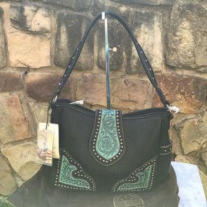 Montana West Concealed Carry Black Shoulder Bag